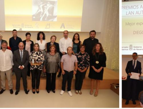 Diego Arpide, de la empresa DINABI, socia de ANAIT, recibe el Premio Autónomo a la Mejor experiencia empresarial joven