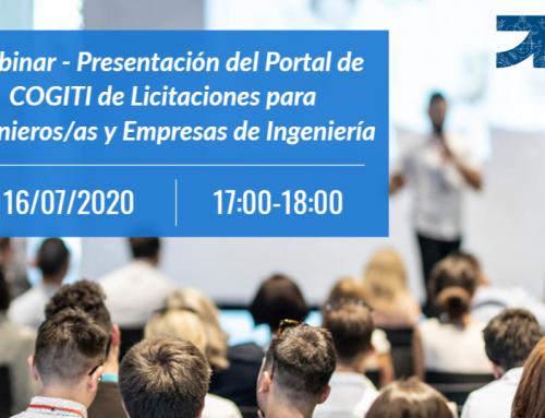 Webinar – Presentación del Portal de COGITI de Licitaciones para empresas de Ingeniería